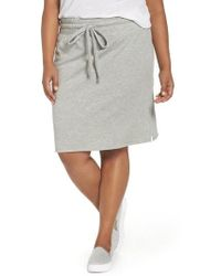 Caslon - Caslon Off-duty Tie Waist Miniskirt - Lyst
