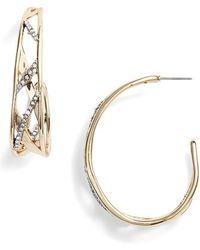 Alexis Bittar | Plaid Hoop Earrings | Lyst