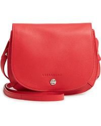 c74c2911e6f6 Longchamp - Small Le Foulonne Leather Crossbody Bag - Lyst