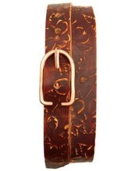 Cause and Effect - Cause & Effect Dogwood Tooled Leather Belt - Lyst