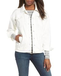 Kenneth Cole - Relaxed White Denim Jacket - Lyst