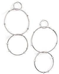 Melinda Maria - Delicate Link Crystal Drop Earrings - Lyst