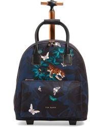 547787d925bd0f Lyst - Ted Baker Dafni - Kyoto Gardens Travel Bag in Blue