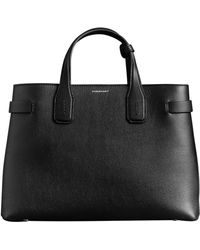 Burberry - Medium Banner Leather Tote - Lyst
