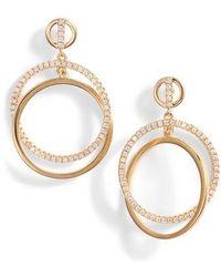 Nordstrom - Pave Interlock Circle Earrings - Lyst