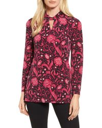 Chaus - Printed Keyhole Top - Lyst
