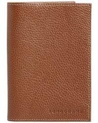 Longchamp - Leather Passport Case - Lyst