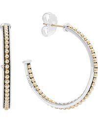 Lagos - 'enso' Caviar Hoop Earrings - Lyst