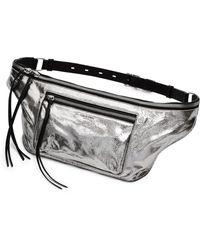 Rag & Bone - Large Elliot Metallic Leather Fanny Pack - - Lyst