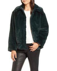 Trina Turk - Salma Faux Fur Jacket - Lyst
