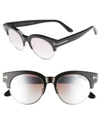 Tom Ford - Henri 52mm Semi-rimless Sunglasses - - Lyst
