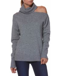 PAIGE - Raundi Cutout Shoulder Sweater - Lyst