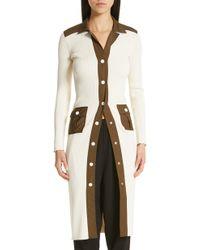 8e46dc7e667 Ganni - Tech Knit Cardigan Sweater Dress - Lyst