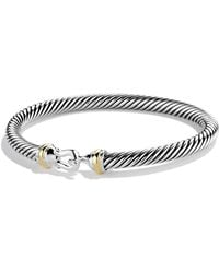 David Yurman - Cable Classic Buckle Bracelet With 18k Gold - Lyst