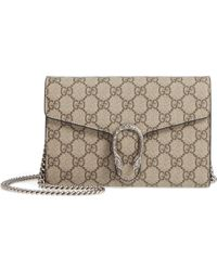 Gucci - Dionysus Gg Supreme Canvas Wallet On A Chain - - Lyst