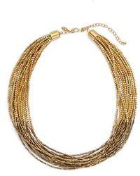 Tasha - Seed Bead Multistrand Short Necklace - Lyst