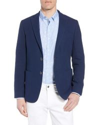 Bugatchi - Regular Fit Cotton Pique Blazer - Lyst