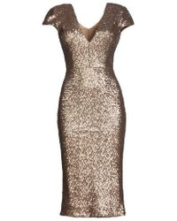 Dress the Population - Allison Sequin Sheath Dress - Lyst