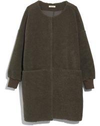 Madewell - Bonded Fleece Cocoon Coat - Lyst