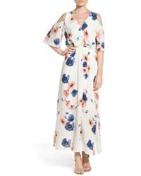 Fraiche By J - Cold Shoulder Maxi Dress - Lyst
