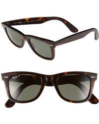 e8c9a9990a8c4 Ray-Ban -  classic Wayfarer  50mm Polarized Sunglasses - Lyst