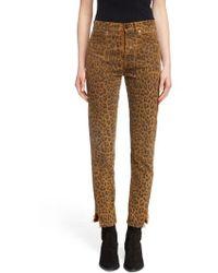 Saint Laurent - Leopard Ankle Jeans - Lyst