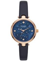 Kate Spade - Holland Constellation Leather Strap Watch - Lyst