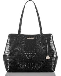 Brahmin - Julian Croc Embossed Leather Tote - - Lyst