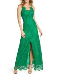 Foxiedox - Embroidered Lace Evening Gown - Lyst