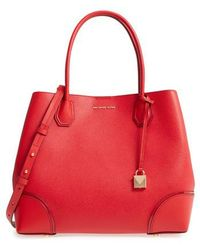 Michael Kors | Michael Large Mercer Leather Tote | Lyst