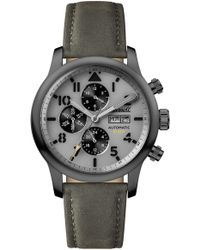 INGERSOLL WATCHES - Ingersoll Hatton Automatic Multifunction Leather Strap Watch - Lyst