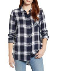 74b1da8a1b85 Nordstrom Rack · Caslon - Caslon Checkered Button Down Shirt - Lyst