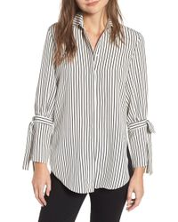 BISHOP AND YOUNG - Bishop + Young Stripe Tie Sleeve Blouse - Lyst