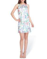 Tahari - Soutache Sleeveless Shift Dress - Lyst