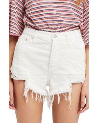 Free People - Loving Good Vibrations Cutoff Denim Shorts - Lyst