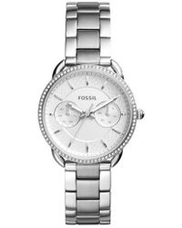 Fossil - Tailor Crystal Multifunction Bracelet Watch - Lyst
