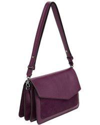 Botkier - Cobble Hill Leather Shoulder Bag - Purple - Lyst