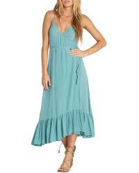 Billabong - Hold Me Tight Wrap Midi Dress - Lyst