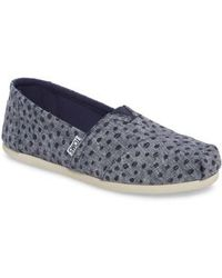 TOMS - Alpargata Chambray Slip-on - Lyst