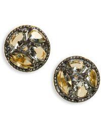 Freida Rothman - Rose Dor Small Disc Earrings - Lyst
