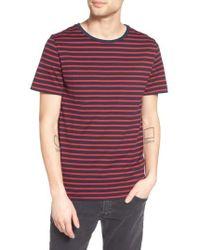 AG Jeans | Julian Stripe Crewneck T-shirt | Lyst