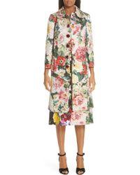 Dolce & Gabbana - Jewel Button Brocade Coat - Lyst