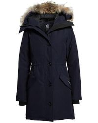 Canada Goose | Rossclair Genuine Coyote Fur Trim Down Parka | Lyst
