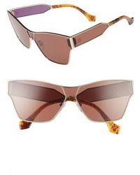Balenciaga   67mm Sunglasses - Pale Gold/ Light Brown Havana   Lyst