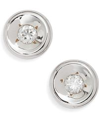 Roberto Coin - Diamond Bezel Earrings - Lyst