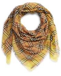 vintage check square scarf - Brown Burberry txlGyqEq9w
