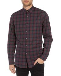 Calibrate - Check Flannel Shirt - Lyst
