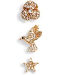 Kate Spade - Grandma's Closet 3-pack Stud Earrings - Lyst