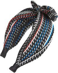 Tasha - Knotted Bow Geo Headband - Lyst