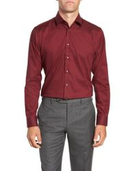 Calibrate - Trim Fit Non-iron Stretch Solid Dress Shirt - Lyst